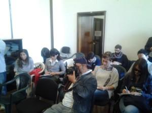 I giornalisti presenti alla conferenza stampa