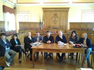 La conferenza stampa dei consiglieri comunali della Coalizione Civica e del Movimento 5 Stelle