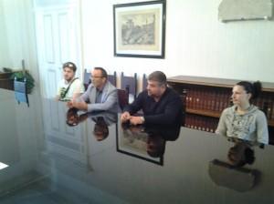 Lo Sapio e Cimino durante l'incontro con il Prefetto di Campobasso, Di Menna