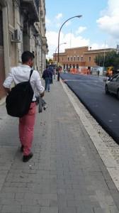 Via Cavour a Campobasso interessata dai lavori di rifacimento del manto stradale