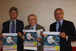 I vertici del Neuromed: Erberto Melaragno, Edoardo Romoli e Mario Pietracupa