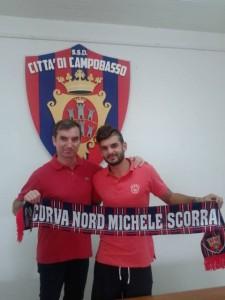 Il presidente Giulio Perrucci con il centrocampista centrale Claudio Pani