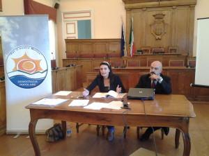 La conferenza stampa Francesco Pilone e Marialaura Cancellario
