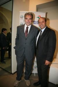 Virgilio Spina, coordinatore provinciale dell'IdV, con Antonio Di Pietro