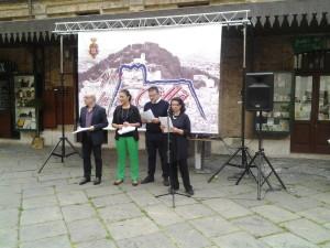 La conferenza stampa di presentazione a Piazzetta Palombo