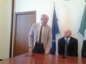 Il sindaco Antonio Battista con il consigliere comunale Francesco De Bernardo