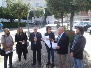 La presentazione della 'Giornata del Camminare' in Piazza Municipio a Campobasso