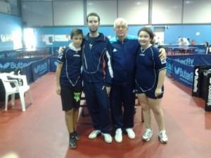 Laura e Daniele con Stefano Cosimi e Teodoro Alfieri