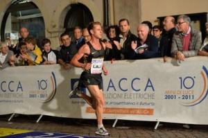 Andrea Lalli durante la gara di Trento