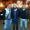 L'allenatore campobassano Massimo Barometro con il bomber del Genoa, Mauricio Pinilla, dopo Genoa-Juventus 1-0