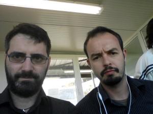 I giornalisti molisani al seguito dei lupi: Alessandro Di Paolo e Gianni Bruno, inviato di Telemolise