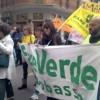 Alcuni dei partecipanti alla manifestazione ecologica 'Oh, che bel castello'