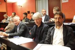 Francesco Farina accanto a Ranko Lazic, da quasi dieci anni allenatore dei lucani del Francavilla Sul Sinni