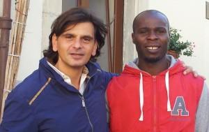 Stanley Ibe con l'agente Graziano Greco