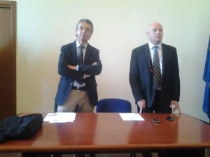 Il sindaco Antonio Battista e l'assessore Pietro Maio