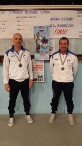 Mario Perrella e Luigi Lanzillo sul podio ai tricolori di bocce