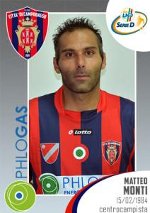 Matteo Monti (foto sito ufficiale Ssd Città di Campobasso)
