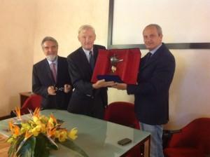 La visita del professor Jozef Vermylen: qui con Mario Pietracupa