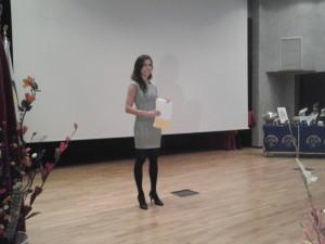 Laura Palladino durante la presentazione