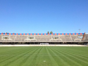 Lo stadio 'Romagnoli' visto dalla Curva Sud