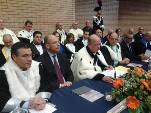 L'ex premier Enrico Letta e il Rettore Gianmaria Palmieri