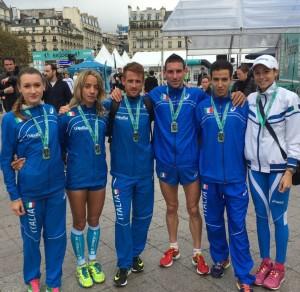 La squadra azzurra a Parigi