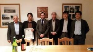 Facciolla con la delegazione giapponese cantina cliternia