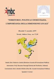 Locandina incontro di formazione politica Termoli