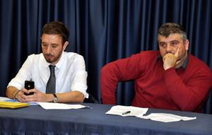 I giornalisti Cosimo Santimone e Vincenzo Cimino