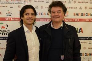 Vincenzo Cosco e il presidente della Torres, Capitani