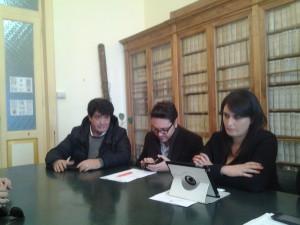 I consiglieri comunali Perretta, Coralbo e Cancellario