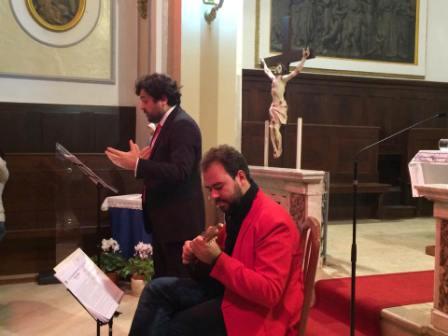 L'attore Marco Caldoro e il maestro Tiziano Palladino