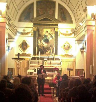 Momenti della serata nella bellissima Chiesta del S.S.Rosario nella piazza di Baranello