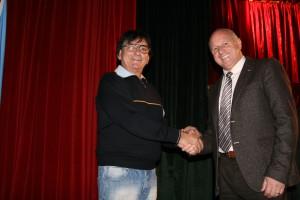 Adriano Ferraiolo con il sindaco Antonio Battista