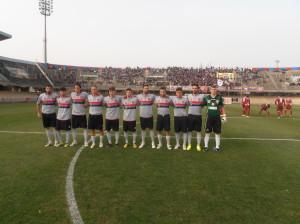 Il Campobasso che ha perso contro il Fano (foto Fabio Del Balso)