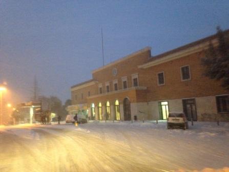 Ore 18, una suggestiva foto di com'è in queste ore la stazione di Campobasso