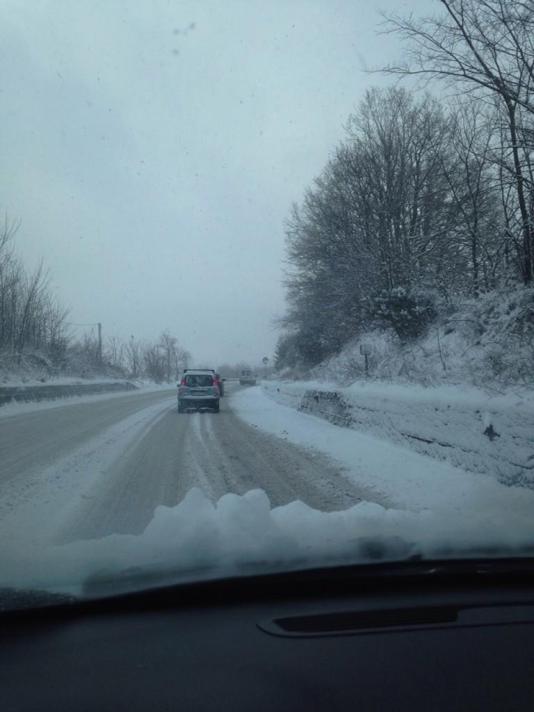 Busso, difficoltà per gli automobilisti lungo la strada statale 17