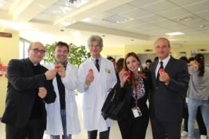 l'autrice con Pietracupa, dottor Romoli, dottor Minicucci, Padre Giuseppe