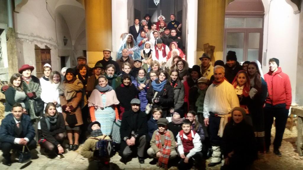 La scena della Natività del Presepe Vivente di Campobasso del Natale 2014