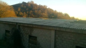 Copertura in amianto sulle stalle di Montefalcione del Sannio