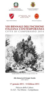 Il manifesto dell'8^ Biennale dell'Incisione Italiana Contemporanea 'Città di Campobasso'