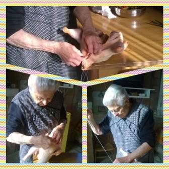 Nonna Maria, 91 anni di Baranello mentre cucina