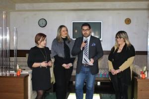 La presentazione del quindicinale: da destra, Giovannitti, Formato, Mistichelli e Abbazia