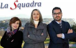 Il presidente di 'Campobasso Insieme', Claudia Mistichelli, con i responsabili di CBlive, Giuseppe Formato e Fabiana Abbazia