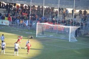il gol di Di Matera che porta in vantaggio il Termoli