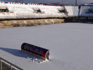 Lo stadio di contrada Selva Piana oggi, venerdì 2 gennaio 2015