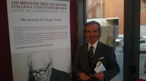Il Maestro Domenico Fratianni, direttore artistico dell'8^ Biennale dell'Incisione Italiana Contemporanea 'Città di Campobasso'