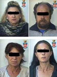 I quattro malviventi arrestati dopo il furto in un'abitazione di Monacilioni