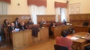 Le opposizioni di Palazzo San Giorgio durante l'intervento di Battista