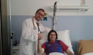 L'allenatore Vincenzo Cosco e il dottor Gaetano Lanzetta